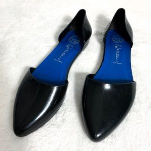 Jeffrey Campbell Black Pointed Toe Flats